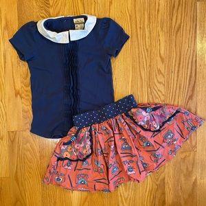 Matilda Jane Top and Skirt